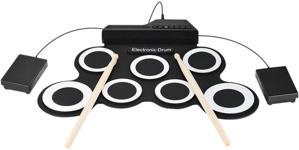 Batterie électronique portable avec 7 pads
